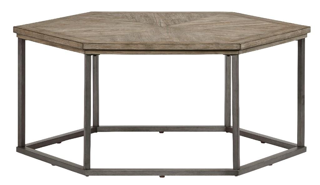 Adison Cove Hexagon Cocktail Table in Ash Blonde - Progressive Furniture T379-01