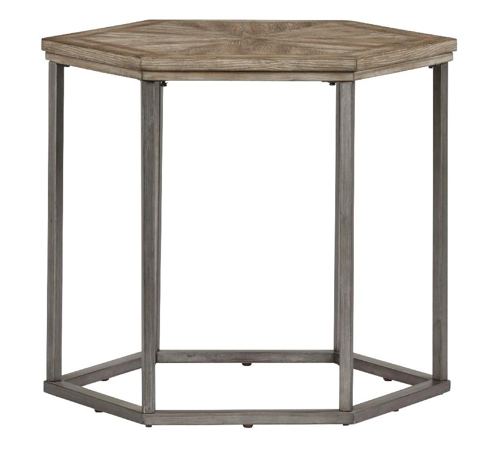 Adison Cove Hexagon End Table in Ash Blonde - Progressive Furniture T379-04