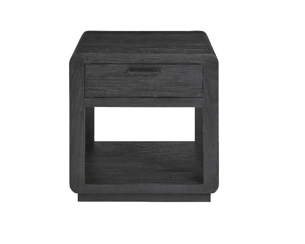 Allure II End Table in Cerused Ebony - Progressive Furniture T770-04