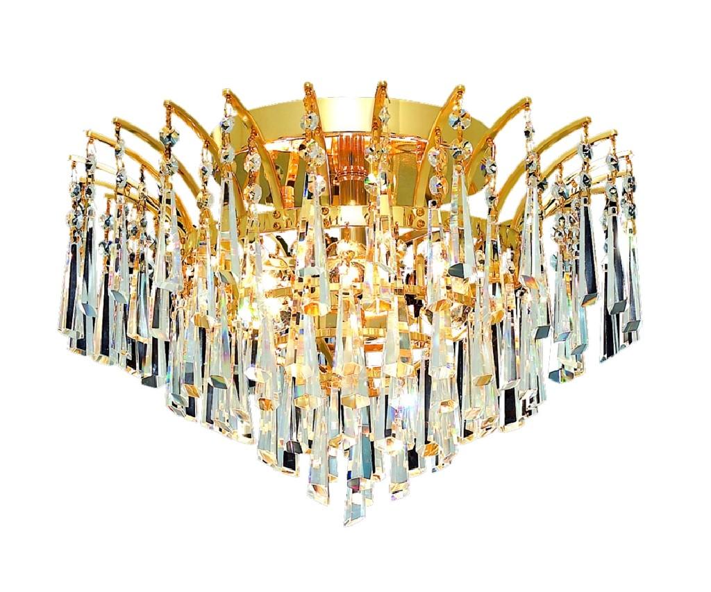 Elegant Lighting Light Gold Flush Mount Clear Elements Crystal