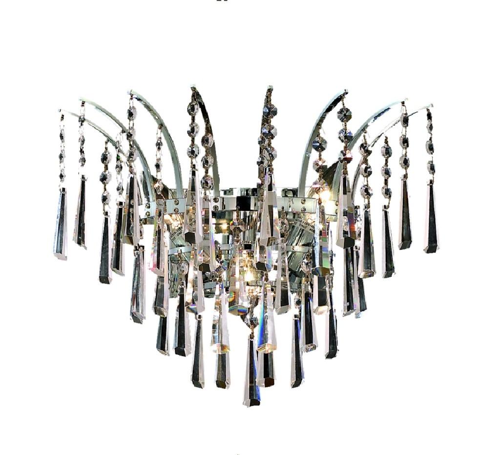 Elegant Lighting Light Chrome Wall Sconce Clear Spectra Swarovski Crystal