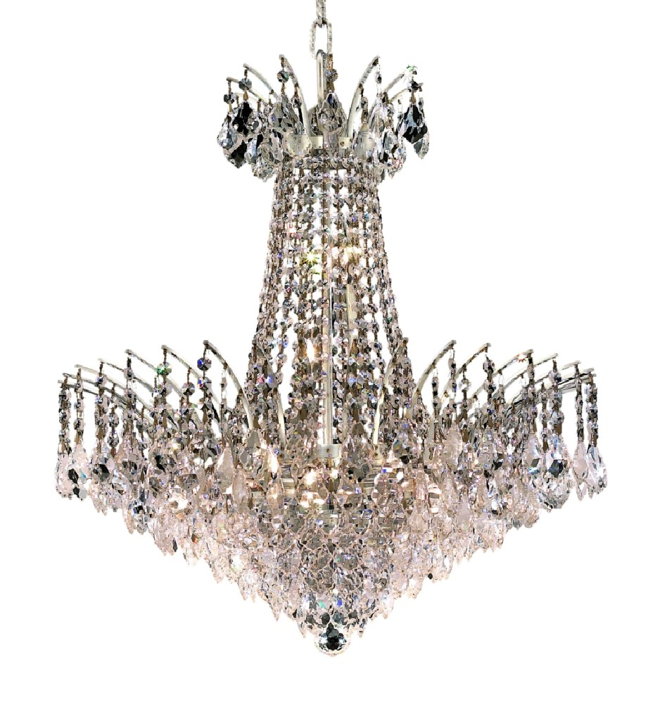 Lighting Chrome Chandelier Light Swarovski