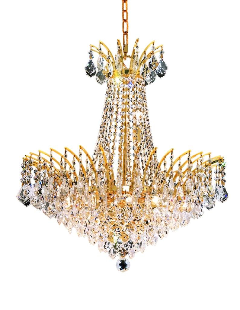 Elegant Lighting Light Gold Chandelier Clear Spectra Swarovski Crystal