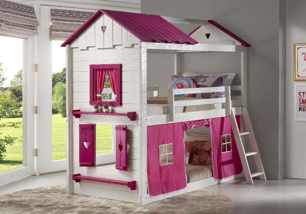 Donco Kids Sweetheart Tent Bunkbed Pink