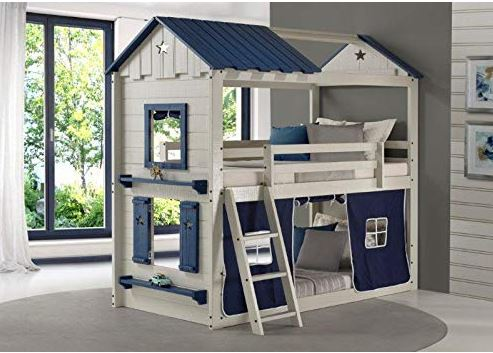 Donco Kids Twin Star Gaze Bunkbed Tent