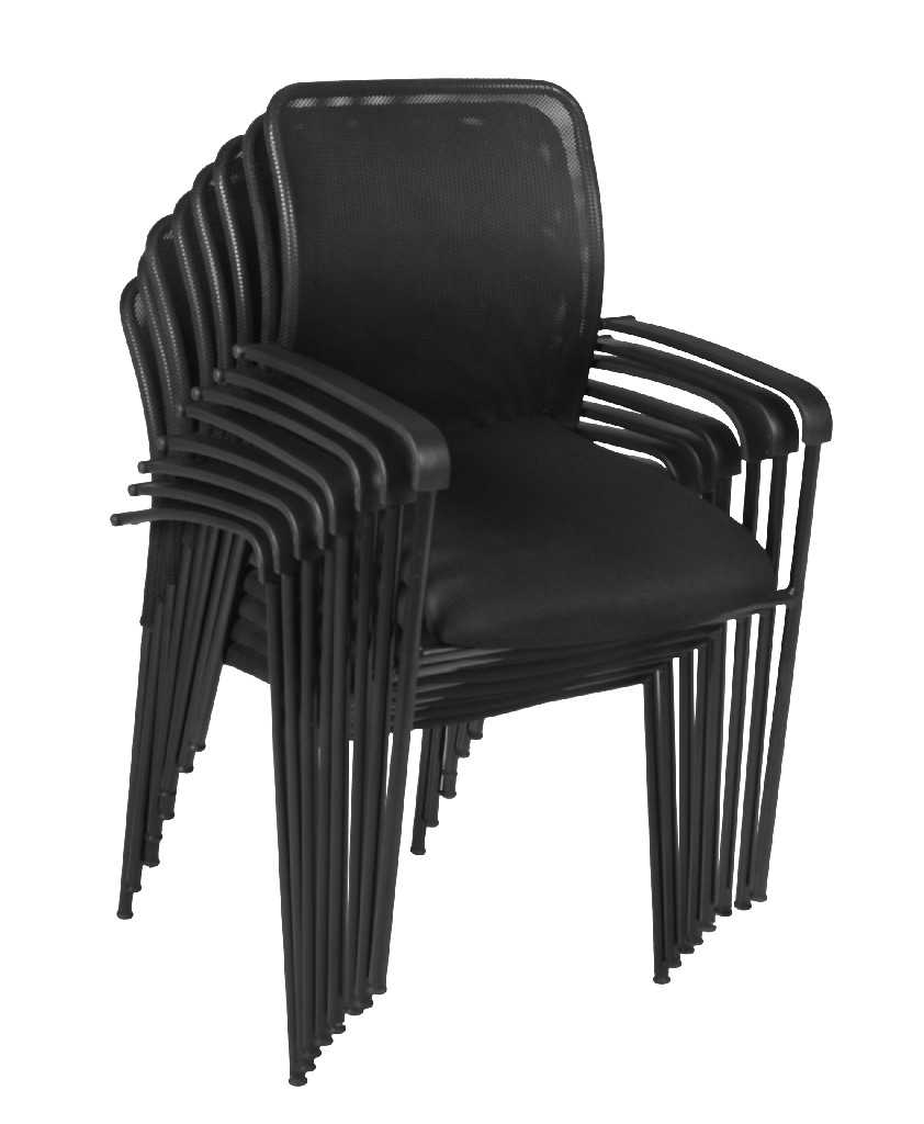 Regency Mario Stack Chair Black