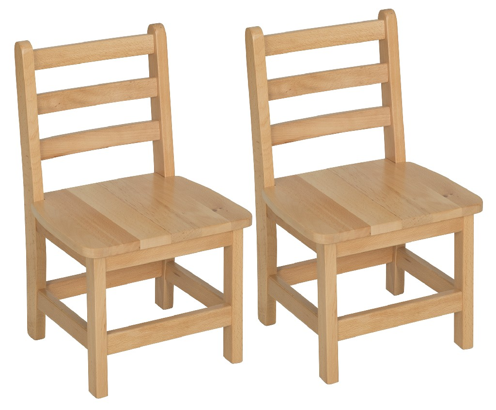 "12"" Atlas Classroom Chair in Natural (Set of 2) - Regency 9212NT2PK"