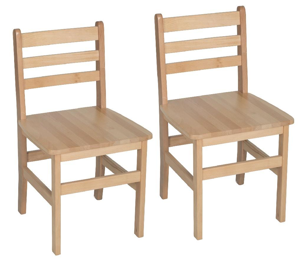 "18"" Atlas Classroom Chair in Natural (Set of 2) - Regency 9218NT2PK"