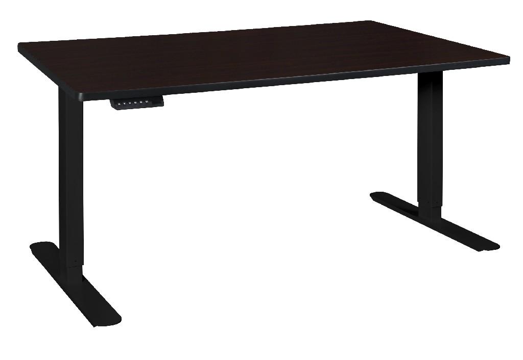 Adjustable   Height   Walnut   Power   Desk
