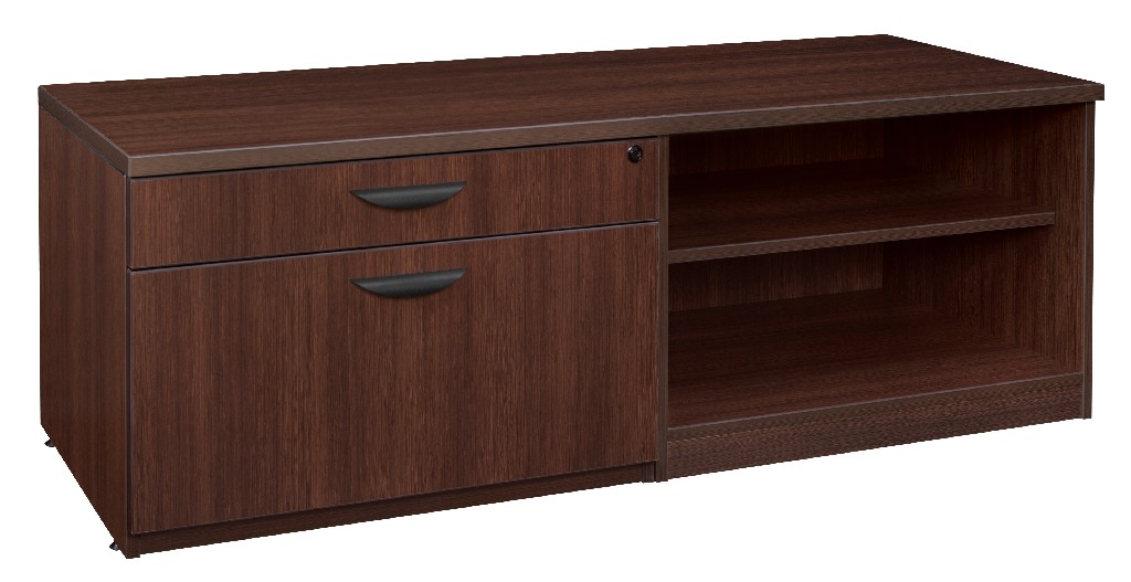 Regency Lateral Open Shelf Low Credenza Java