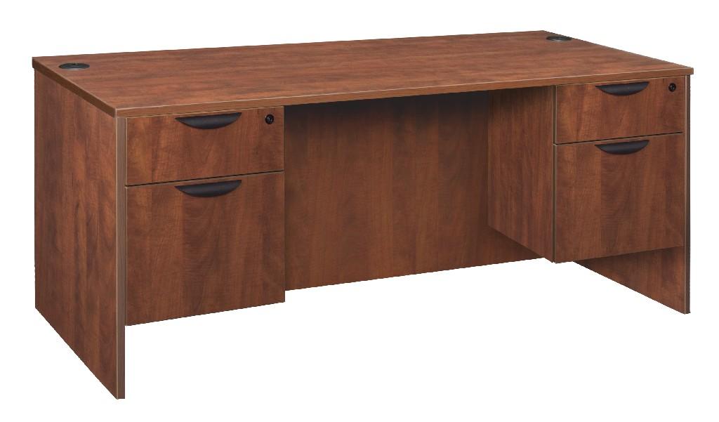 Regency Double Pedestal Desk Cherry