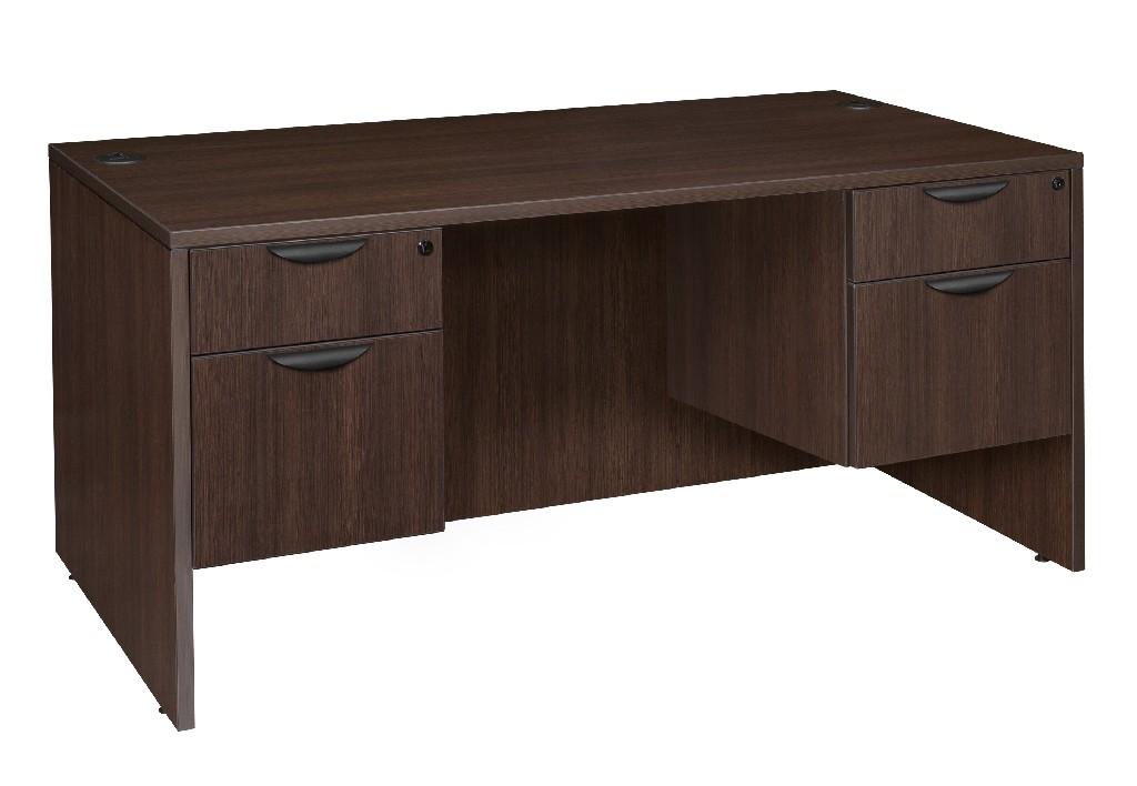 Regency Double Pedestal Desk Java