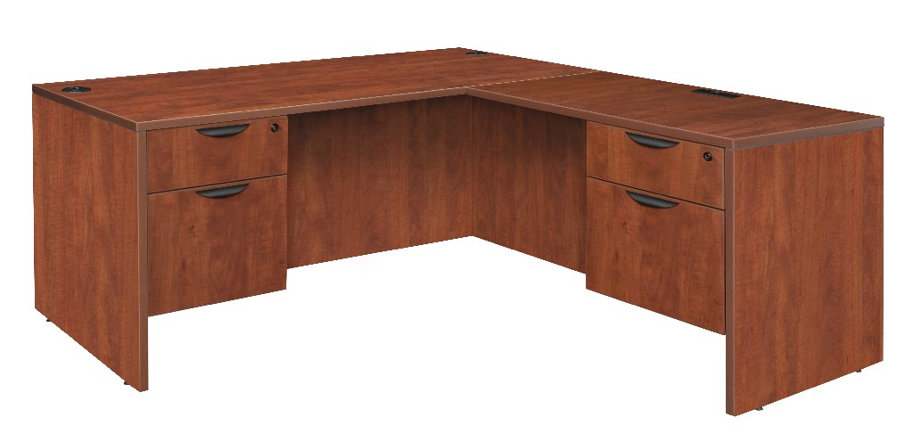 Regency Double Pedestal Desk Return Cherry