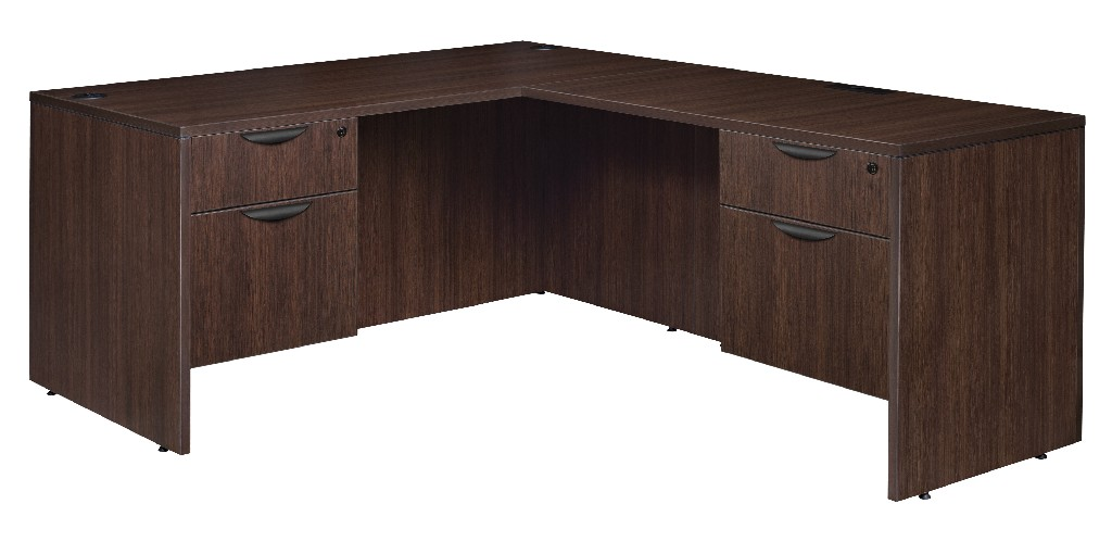 Regency Double Pedestal Desk Return Java