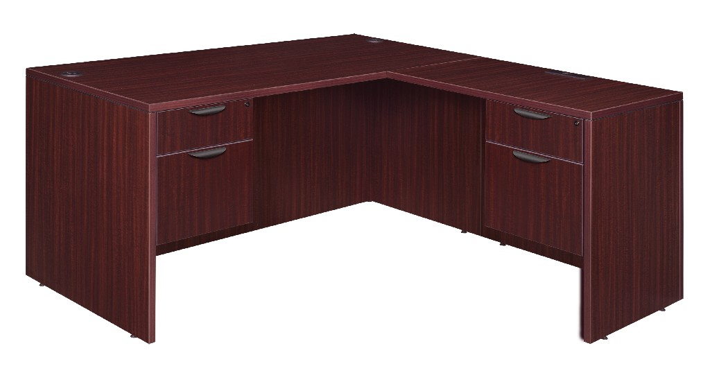 Regency Double Pedestal Desk Return Mahogany