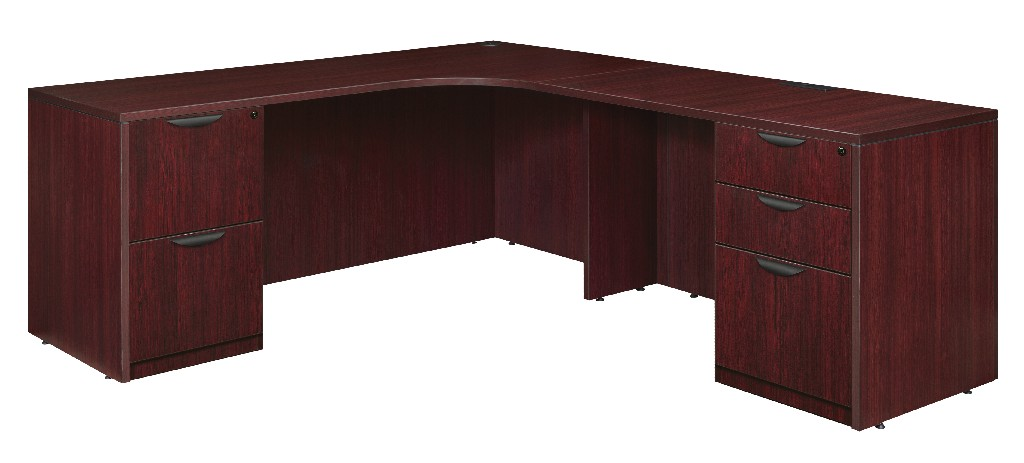 Regency Double Full Pedestal Right Corner Credenza Mahogany