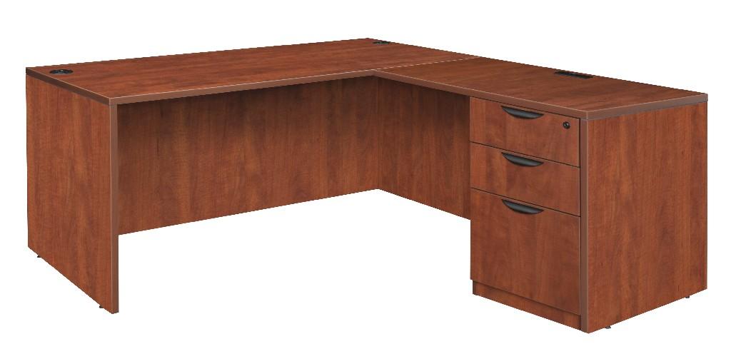 Regency Single Full Pedestal Desk Return Cherry