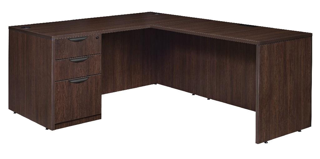 Regency Single Full Pedestal Desk Return Java