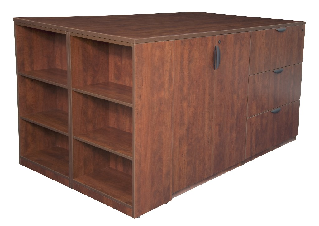 Regency Stand Up Storage Cabinet Lateral File Quad Bookcase End Cherry