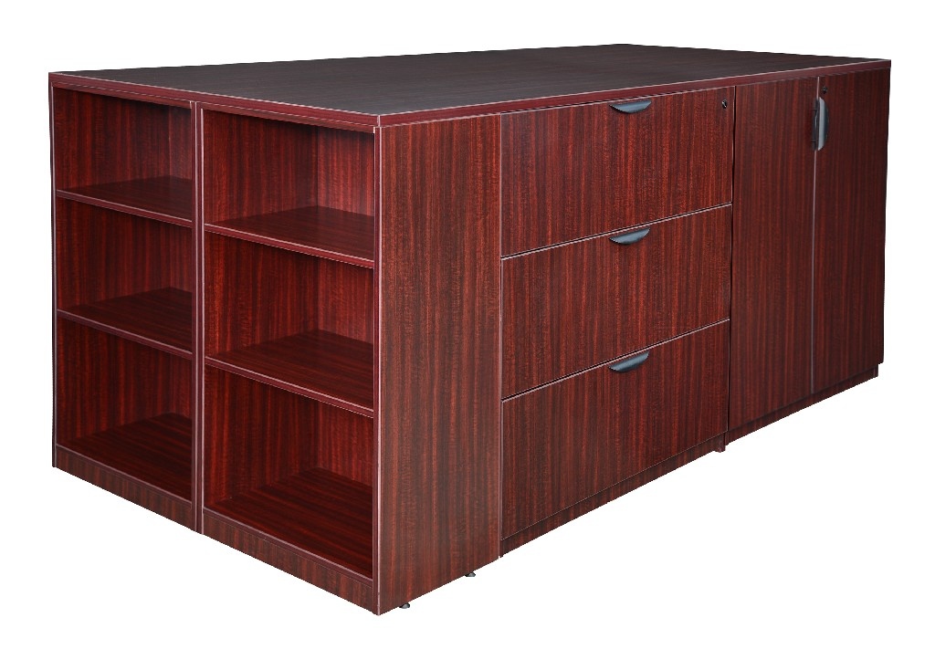 Regency Stand Up Storage Cabinet Lateral File Quad Bookcase End Mahogany