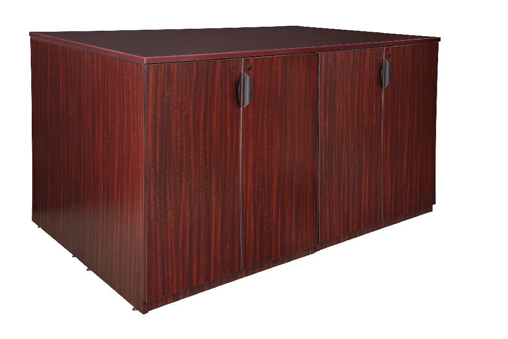Regency Stand Up Storage Cabinet Lateral File Desk Quad Mahogany