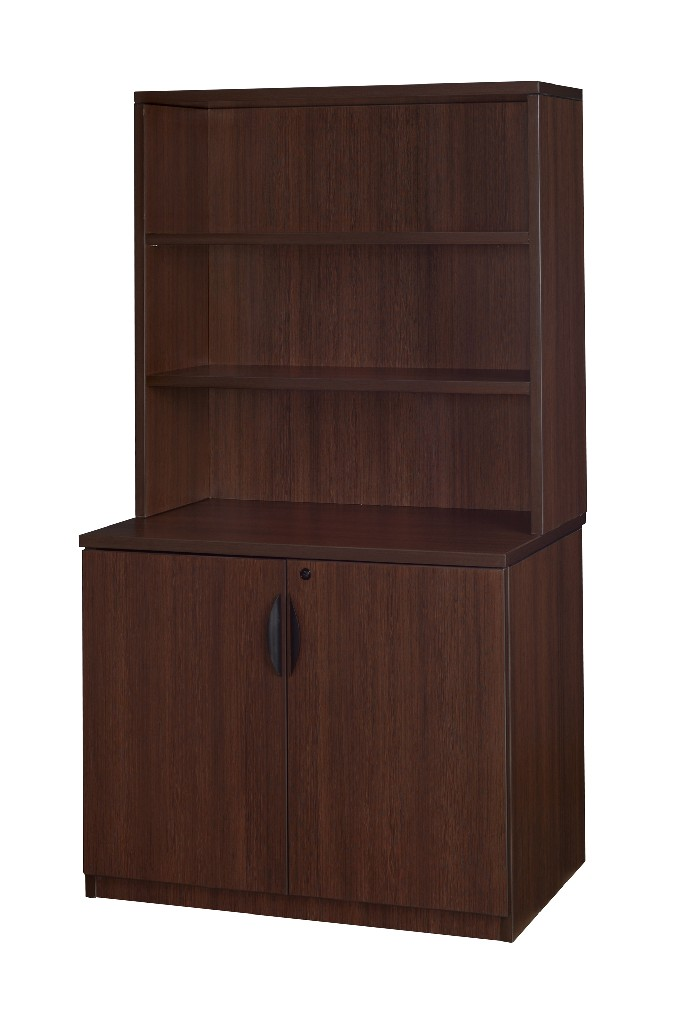 Regency Storage Cabinet Open Hutch Java