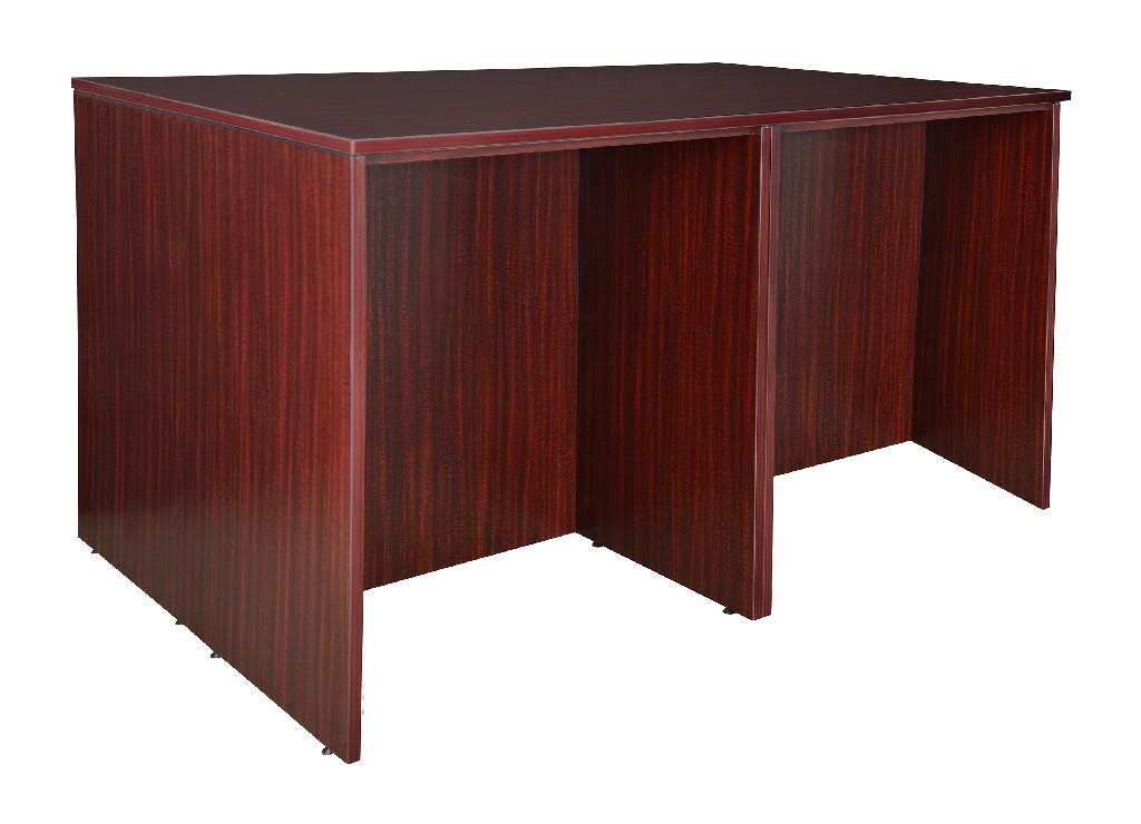Regency Stand Up Desk Quad Mahogany