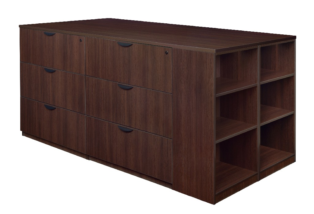 Regency Stand Up Lateral File Quad Bookcase End Java
