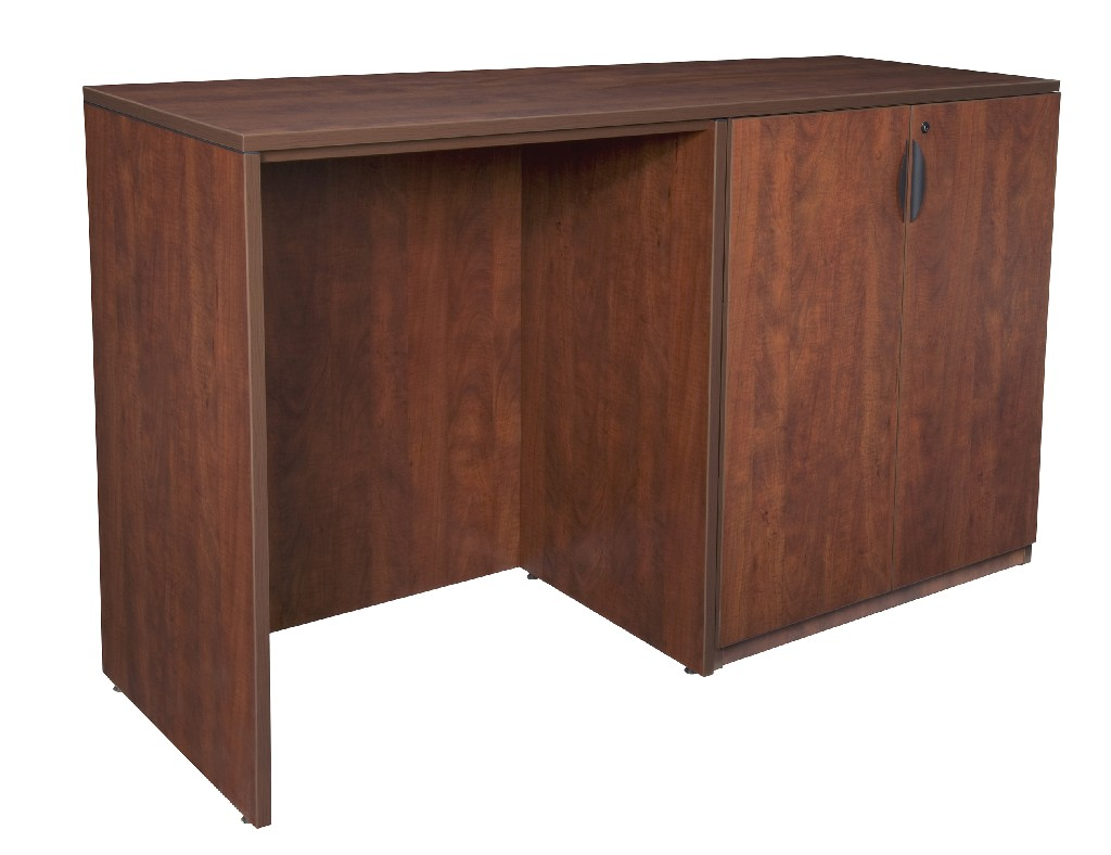 Regency Stand Up Side To Side Storage Cabinet Desk Cherry