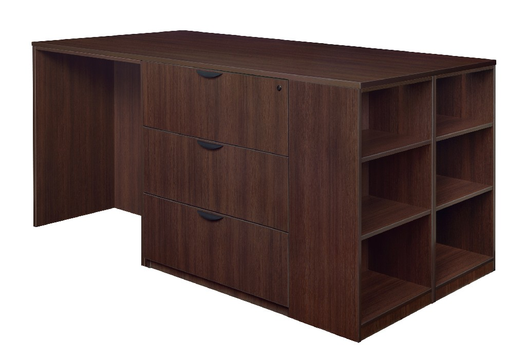 Regency Stand Up Desk Lateral File Quad Bookcase End Java
