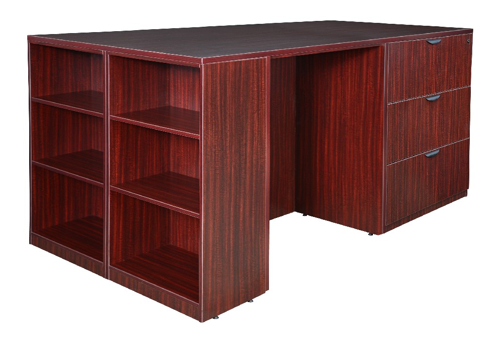 Regency Stand Up Desk Lateral File Quad Bookcase End Mahogany