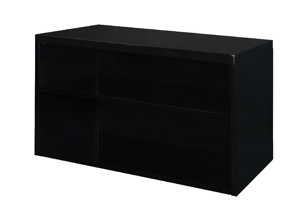 Regency Low Open Storage Cabinet Black