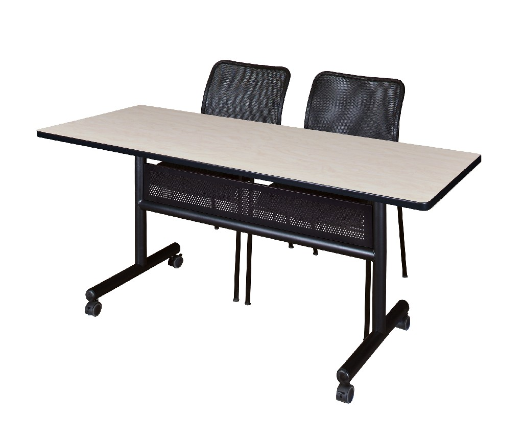 Regency Training Table Modesty Panel Mario Stack Chairs