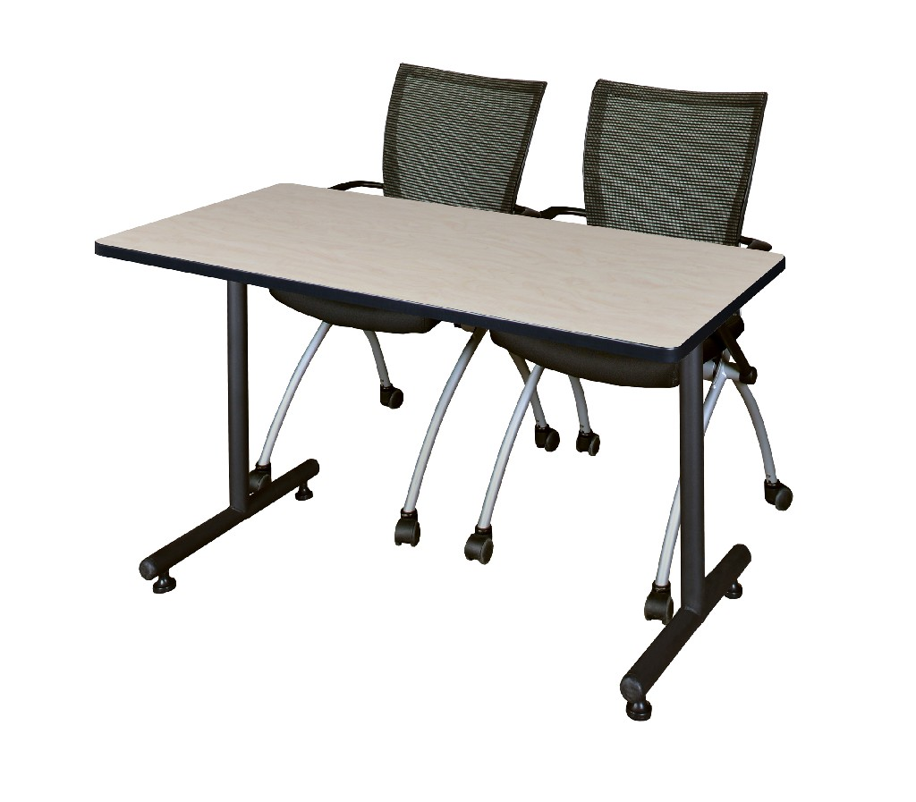 Regency Training Table Maple Apprentice Chairs Black