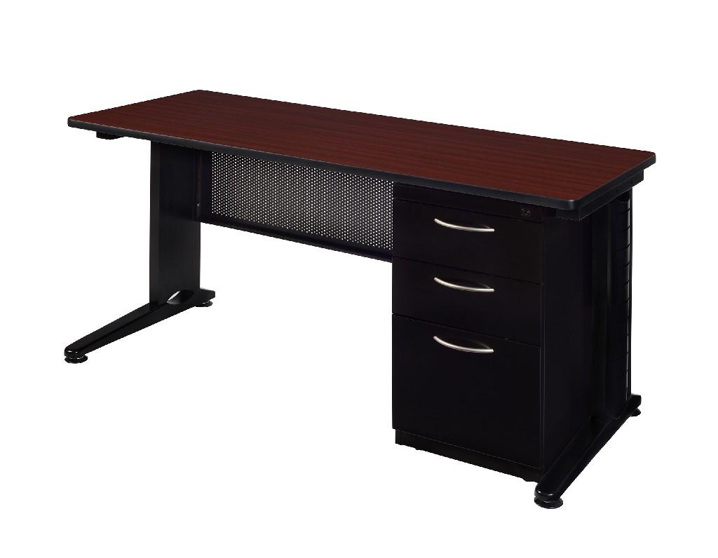 Regency Single Pedestal Desk Mahogany