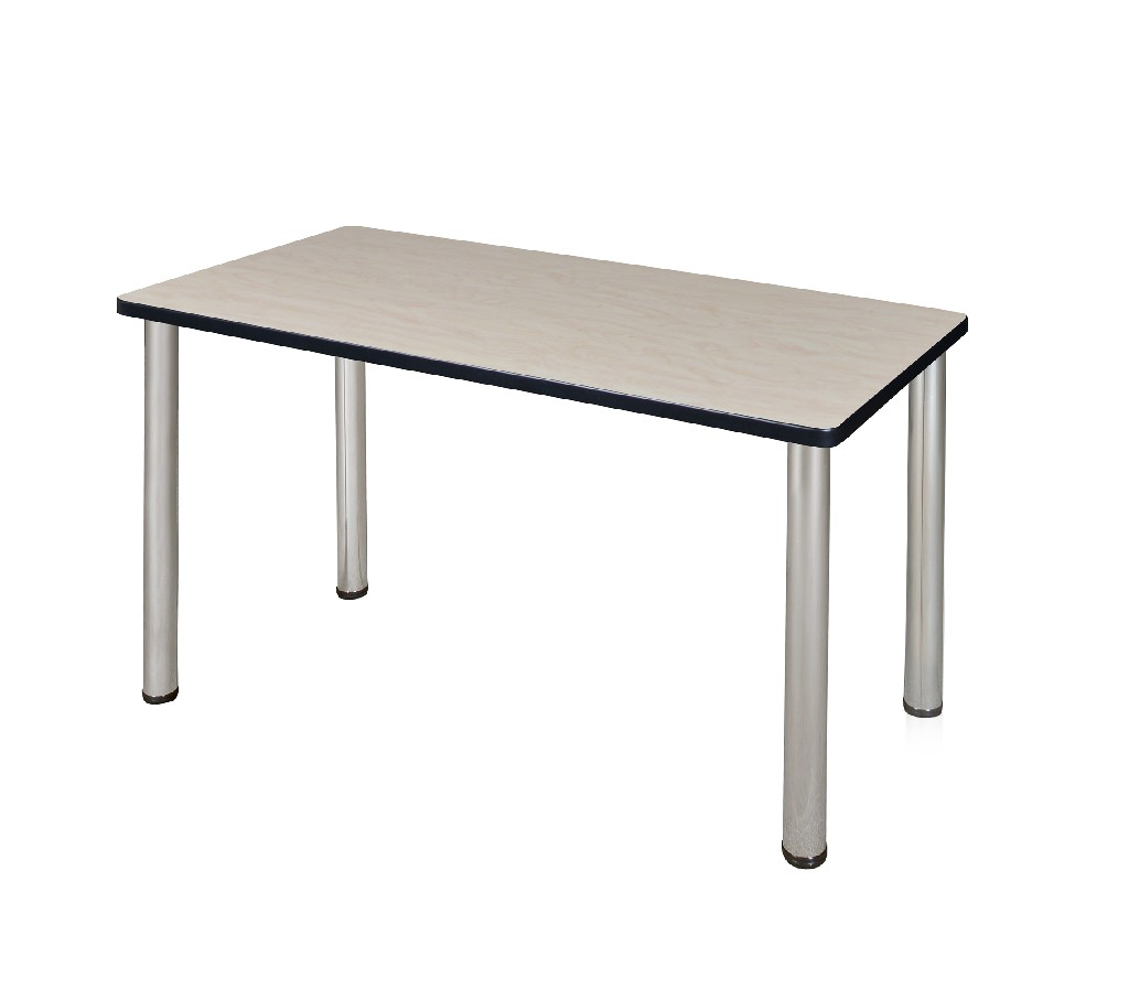 "42"" x 24"" Kee Training Table in Maple/ Chrome - Regency MT4224PLBPCM"