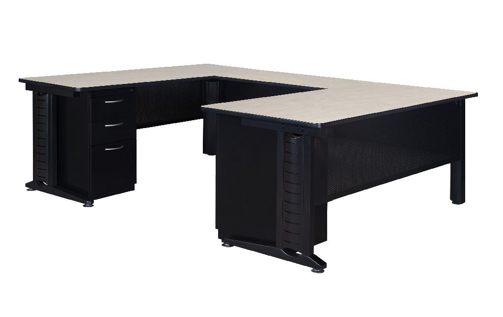 Regency Double Pedestal Desk Bridge Maple