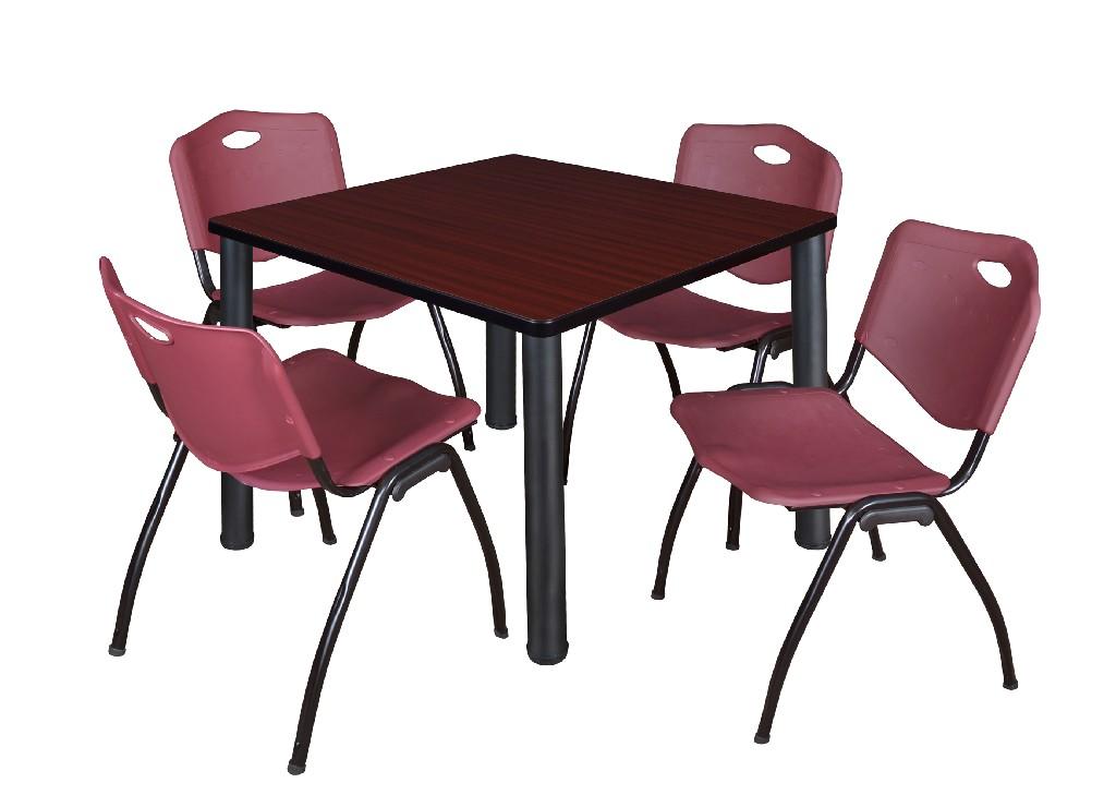 Darkest Brown Regency Cali Square Breakroom Table 42
