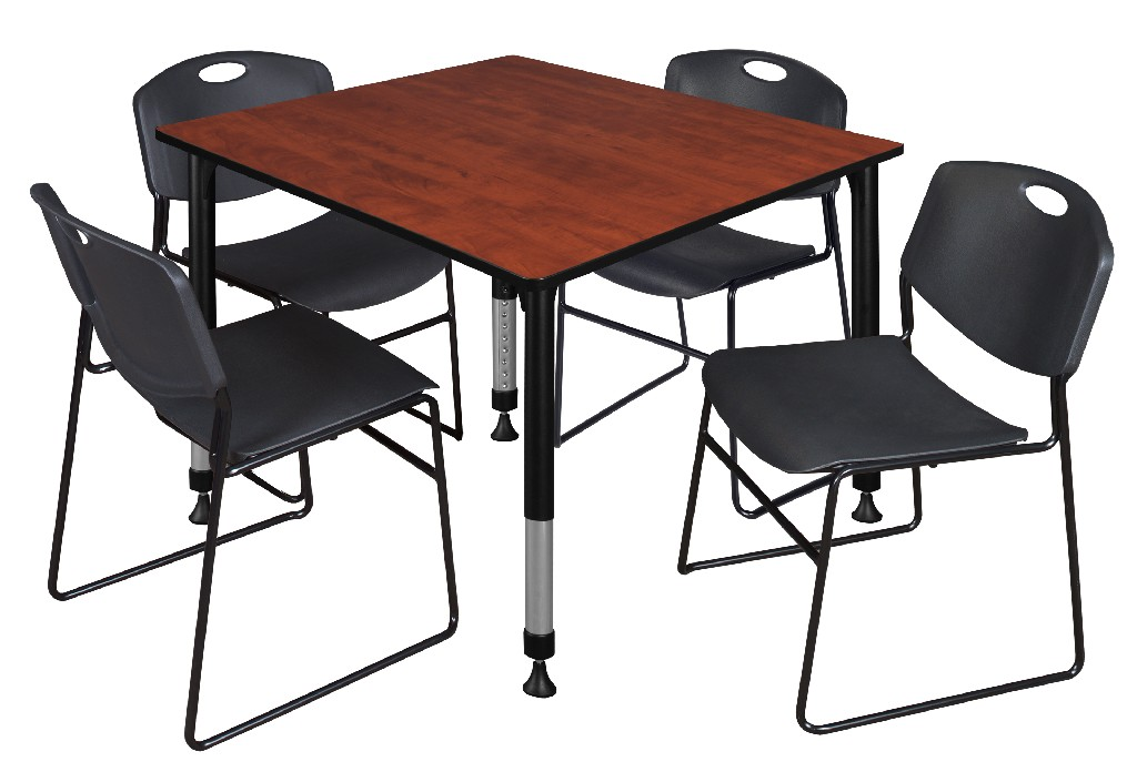 Regency Square Height Adjustable Classroom Table Cherry Zeng