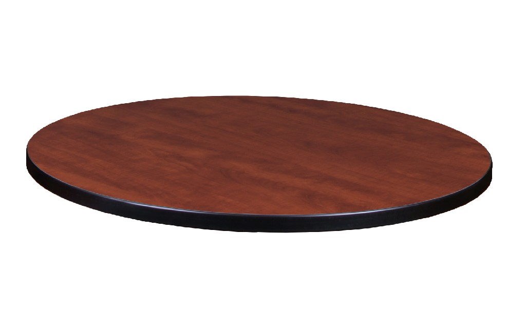 "30"" Round Laminate Table Top in Cherry/ Maple - Regency TTRD30CHPL"