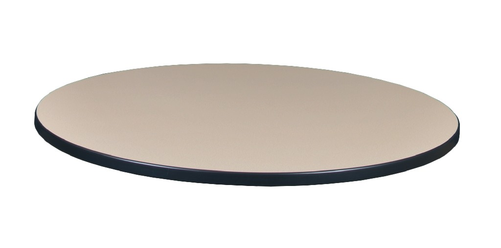 "36"" Round Laminate Table Top in Beige/ Grey - Regency TTRD36BEGY"