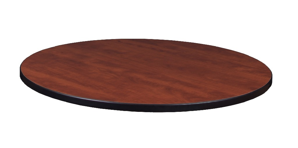 "36"" Round Laminate Table Top in Cherry/ Maple - Regency TTRD36CHPL"