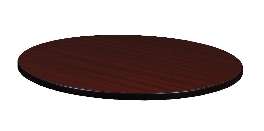 """42"""" Round Laminate Table Top in Mahogany/ Mocha Walnut - Regency TTRD42MHMW"""