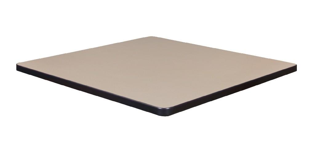 "30"" Square Laminate Table Top in Beige/ Grey - Regency TTSQ3030BEGY"