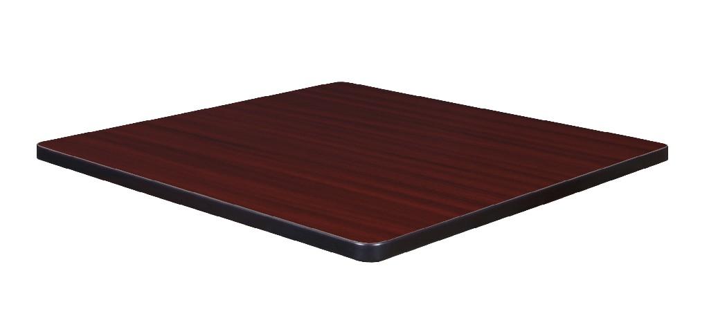 """30"""" Square Laminate Table Top in Mahogany/ Mocha Walnut - Regency TTSQ3030MHMW"""
