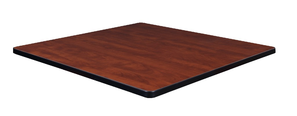 "36"" Square Laminate Table Top in Cherry/ Maple - Regency TTSQ3636CHPL"