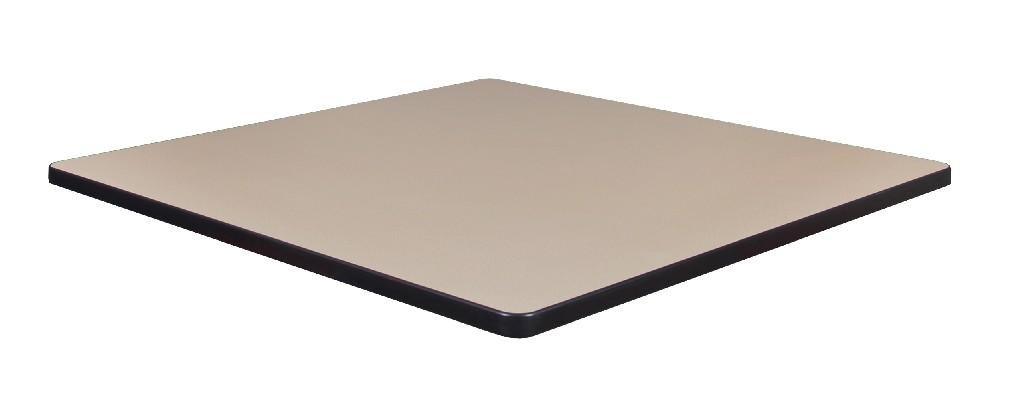 "42"" Square Laminate Table Top in Beige/ Grey - Regency TTSQ4242BEGY"