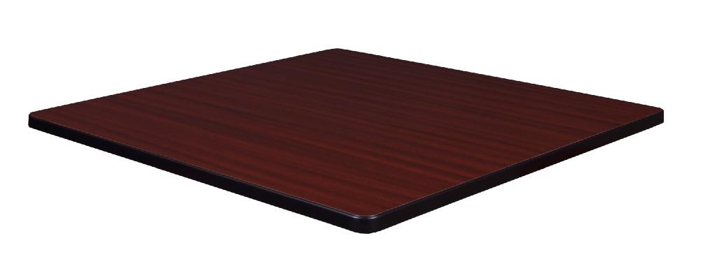 """42"""" Square Laminate Table Top in Mahogany/ Mocha Walnut - Regency TTSQ4242MHMW"""