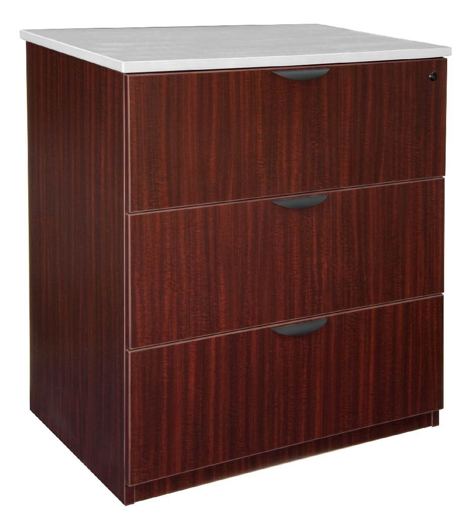 Regency Stand Up Lateral File Mahogany