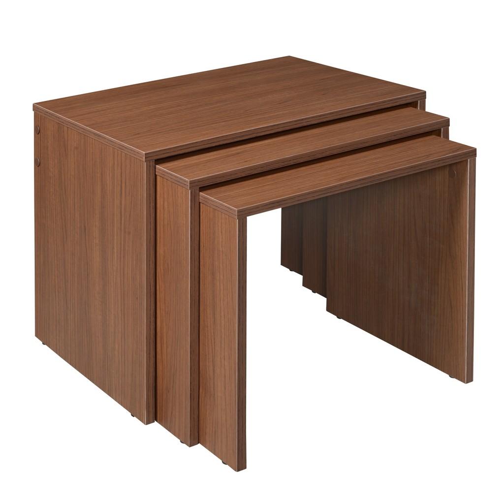 3-PC Niche Lux Side Table Set in Walnut - Regency NLST2216WN